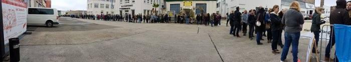 Stijl Markt Mainz - Oktober 2016 Schlange