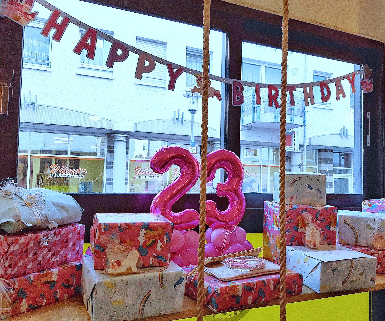 Jasmins 23. Geburtstag Deko