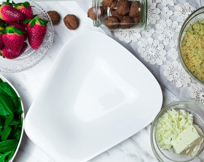 Erdbeersalat Vorbereitungen